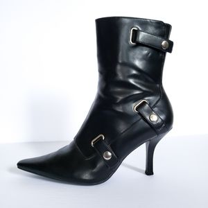 Predictions Black Pointed Toe Ankle Boots Booties